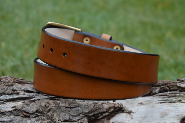Christopher Piero Brown Leather Belt