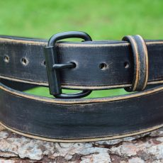 Christopher Piero Antique Black Roller Buckle